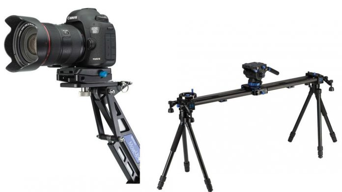 Benro's camera movement tools - Move4Up Travel Jib and Camera Sliders