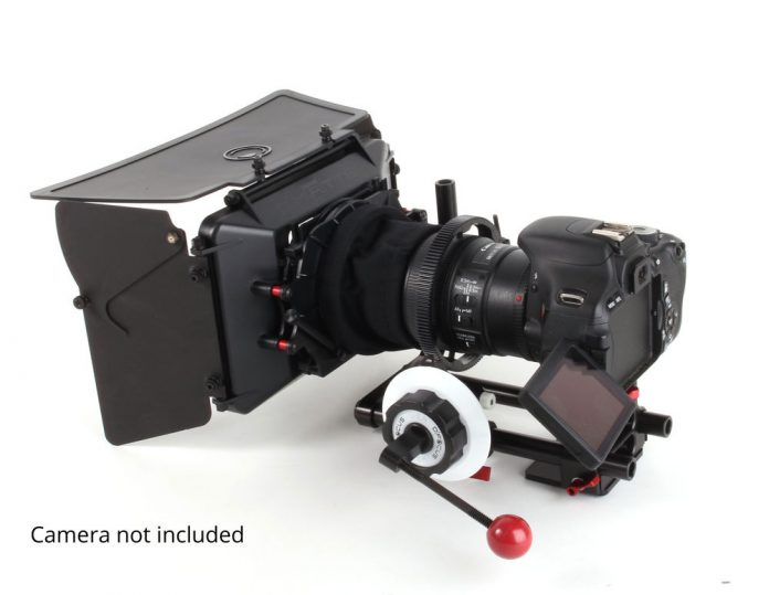DSLR with matte box and follow focus