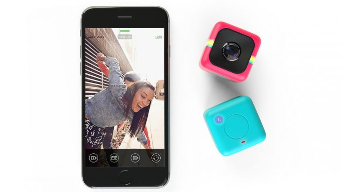 Polaroid's CUBE+ Lifestyle Action Camera uses built-in Wi-Fi for a viewfinder