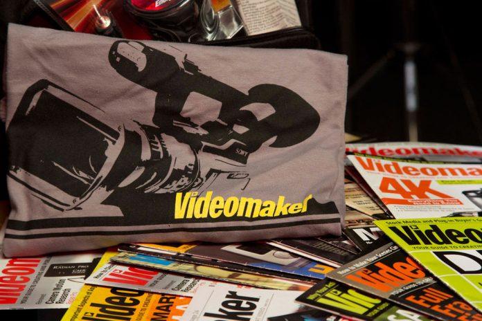 Videomaker shirt and magazines
