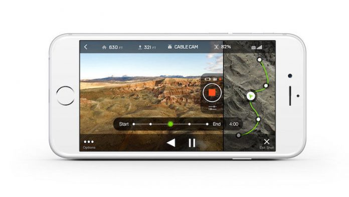 iPhone with 3DR cable cam app