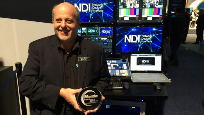 NewTek Accepts Best of NAB Award