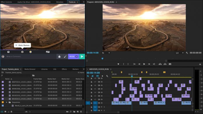 Frame.io Integration with comments in Premiere Pro