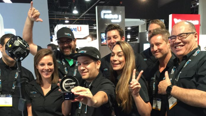 GoPro accepts Best of NAB Award