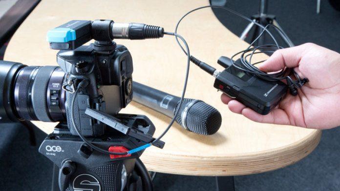 wireless mics near a camera
