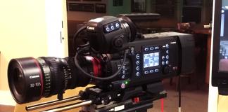 Canon EOS C700 on display