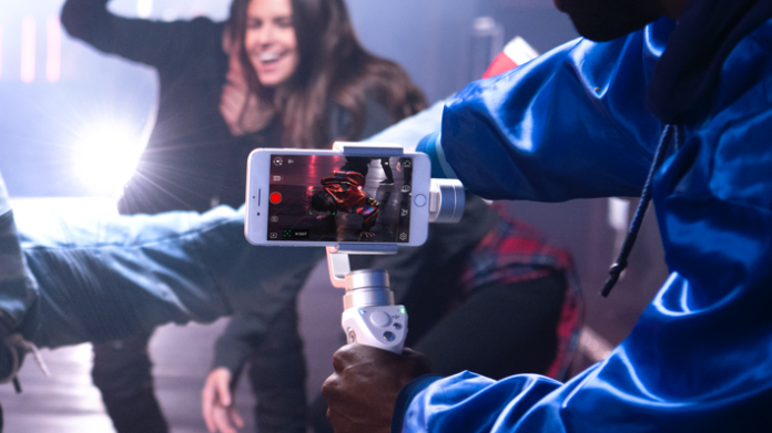 DJI Osmo Mobile Silver in action