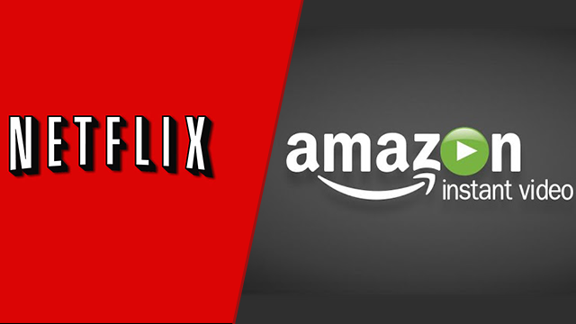 Netflix and Amazon Video logos