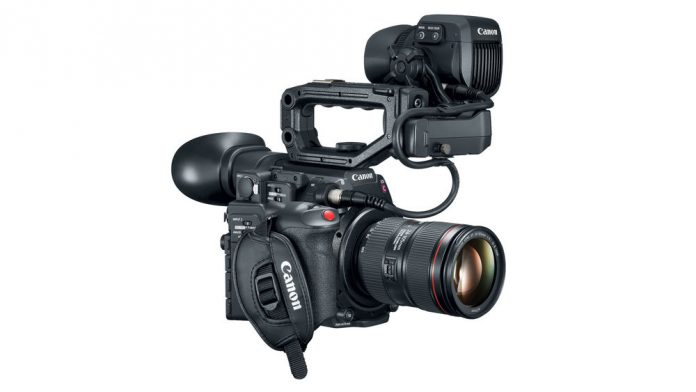 Canon EOS C200 with lens and accessories