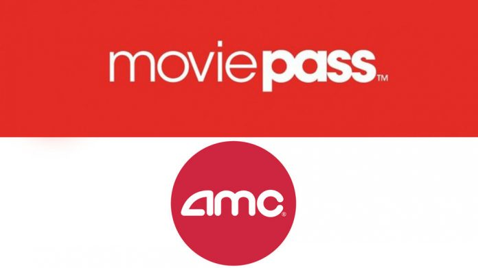 MoviePass and AMC Theaters logo