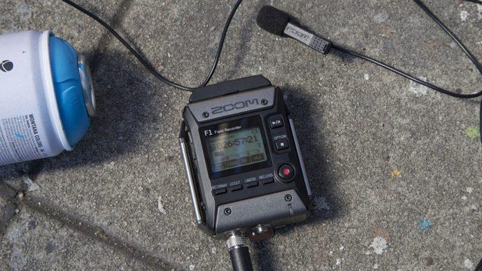 Zoom F1 on street concrete