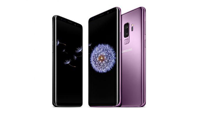 Three Galaxy S9s