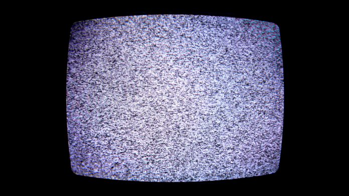 White noise on a television set