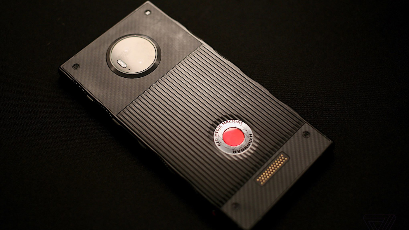 RED's Hydrogen One over black background